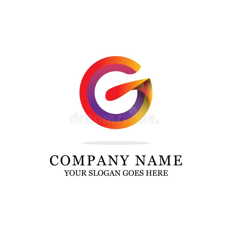 Awesome G Letter Logo Design- Modern Initial Vector for Gradient color stock illustration