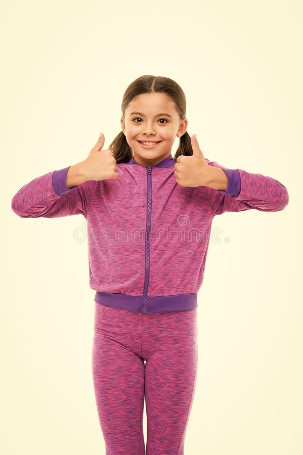This is awesome. Girl happy totally in love fond of or highly recommend. Thumbs up approvement. Girl cute child show. Thumbs up gesture. Gifts your teens will royalty free stock image