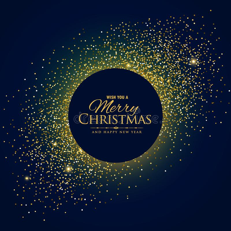 Awesome glitter background with christmas and new year wishes vector illustration