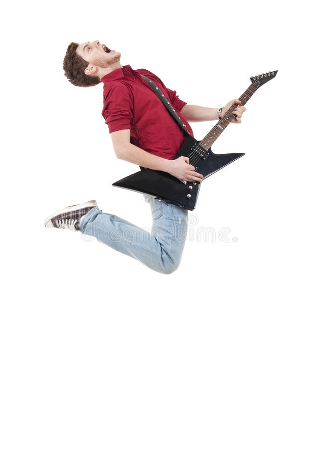 Awesome guitar player royalty free stock photo