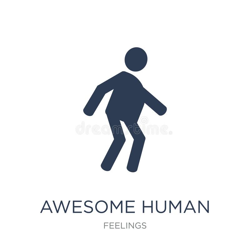 awesome human icon. Trendy flat vector awesome human icon on white background from Feelings collection royalty free illustration