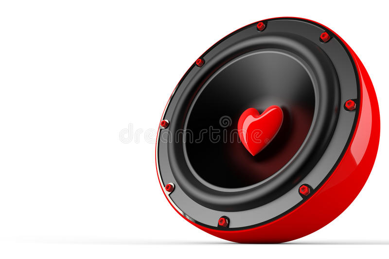 Awesome love speaker stock illustration