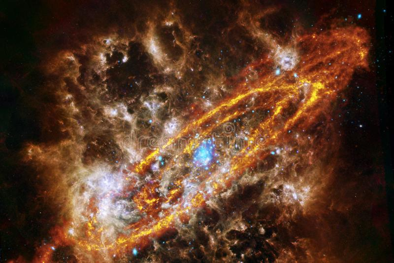 Awesome nebula. Billions of galaxies in the universe. Elements of this image furnished by NASA stock illustration