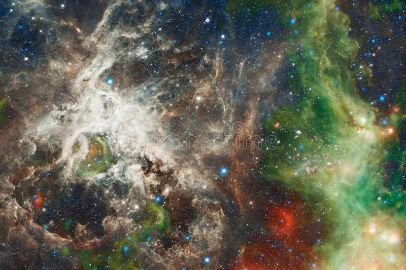 Awesome nebula. Billions of galaxies in the universe. Elements of this image furnished by NASA royalty free illustration