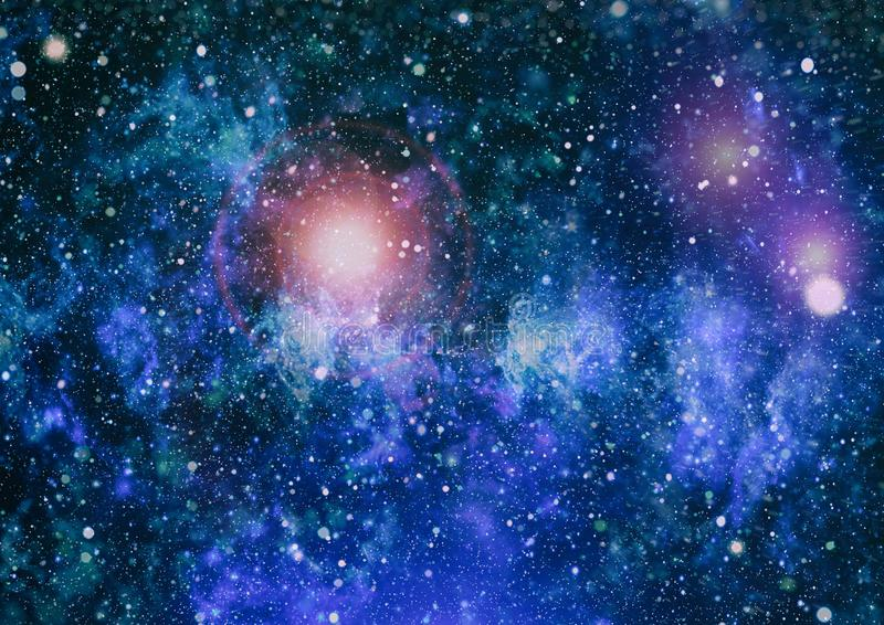 Download Awesome Nebula In Deep Space Galaxy And Abstract Background Stock