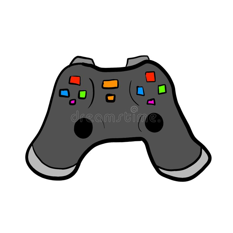 Awesome Pro Game Controller. Digital illustration of a game controller vector illustration