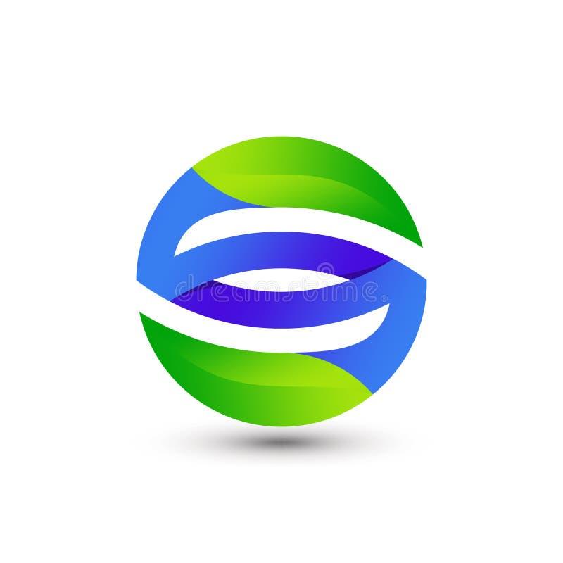 Awesome Résumé Lettre dégradante S Leaf Company Modernisation Logo Conception Modèle vectoriel Premium illustration de vecteur