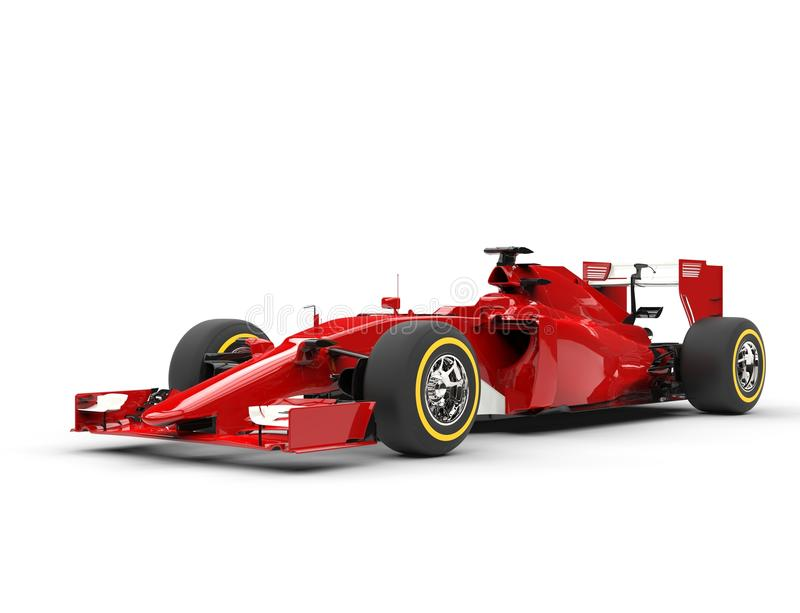 Awesome red formula one car - beauty shot. Isolated on white background royalty free stock photos