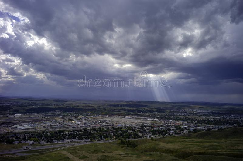 Awesome Sky Over Cochrane Alberta Canada stock image