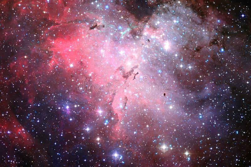 Awesome space background. Elements of this image furnished by NASA.  royalty free stock photo
