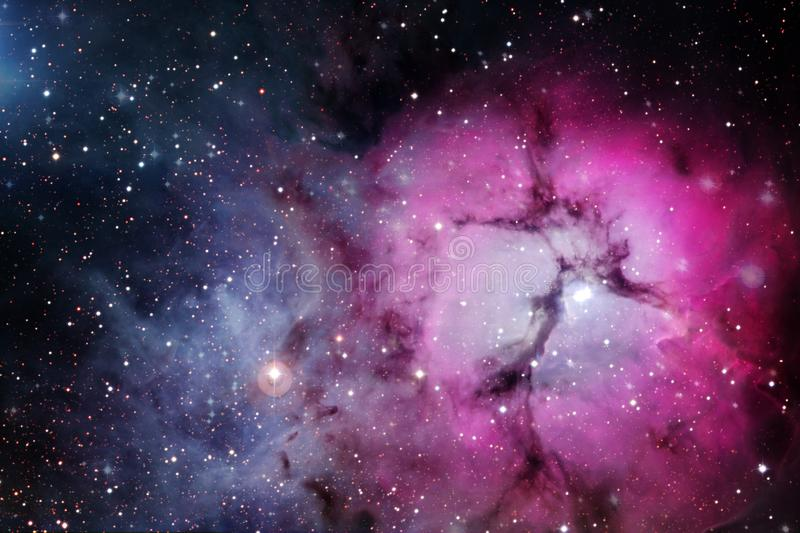 Awesome space background. Elements of this image furnished by NASA.  royalty free stock photography