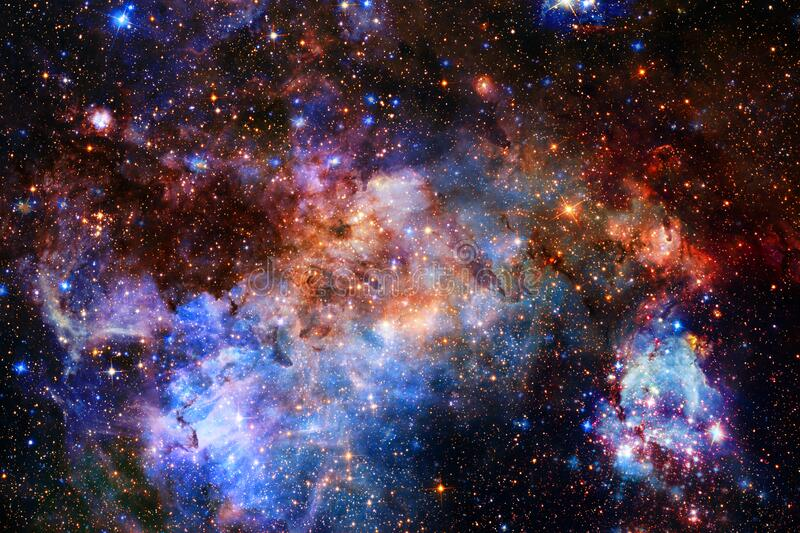 Awesome space background. Elements of this image furnished by NASA.  stock images