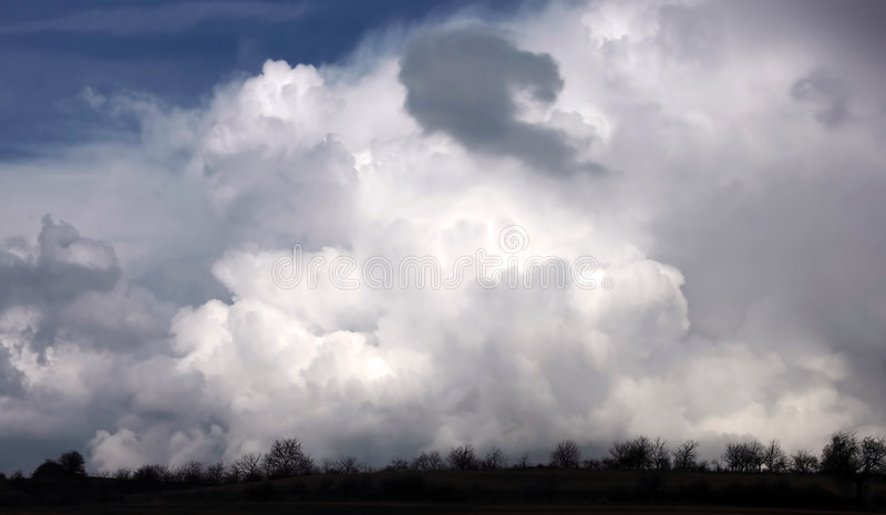 Awesome stormy cloudscape royalty free stock photos