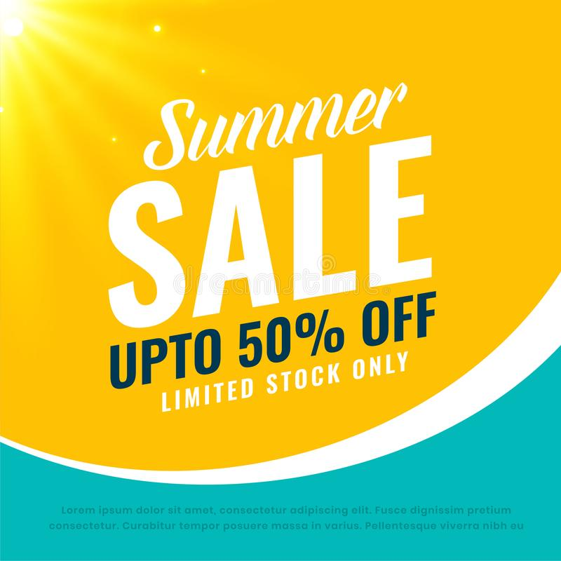 Awesome summer sale bright background royalty free illustration
