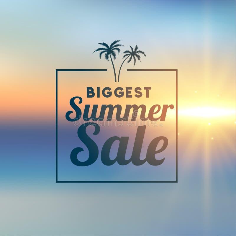 Awesome summer sale stylish background royalty free illustration