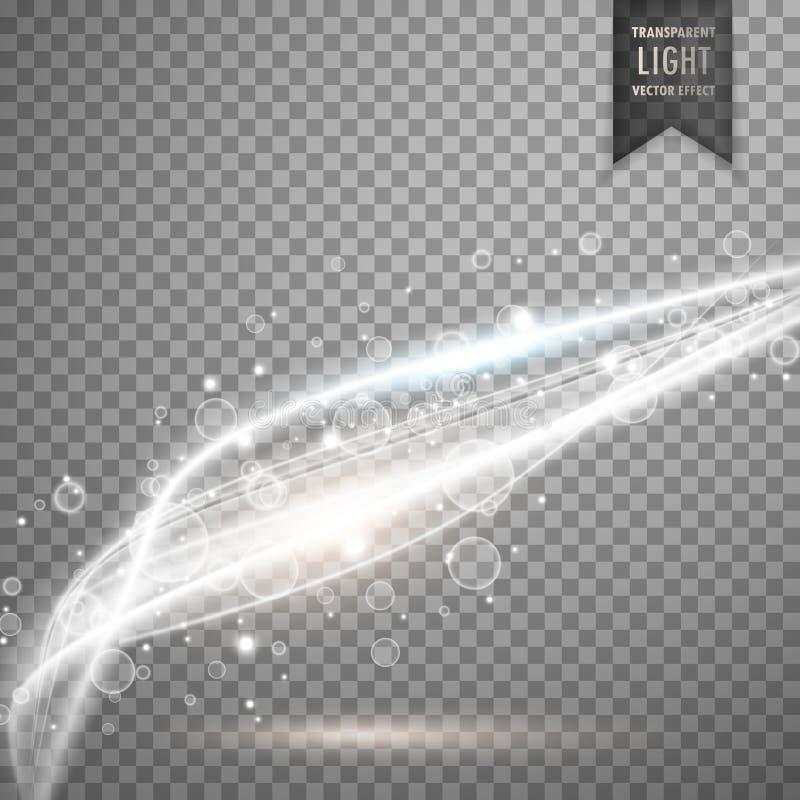 Awesome vector transparent white light background vector illustration