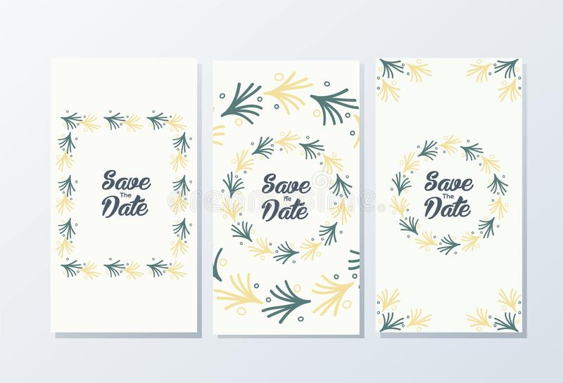 Awesome wedding invitation template ready to use. For your company royalty free illustration