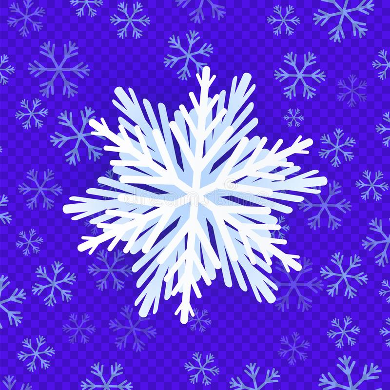 Awesome white snowflake. stock photography