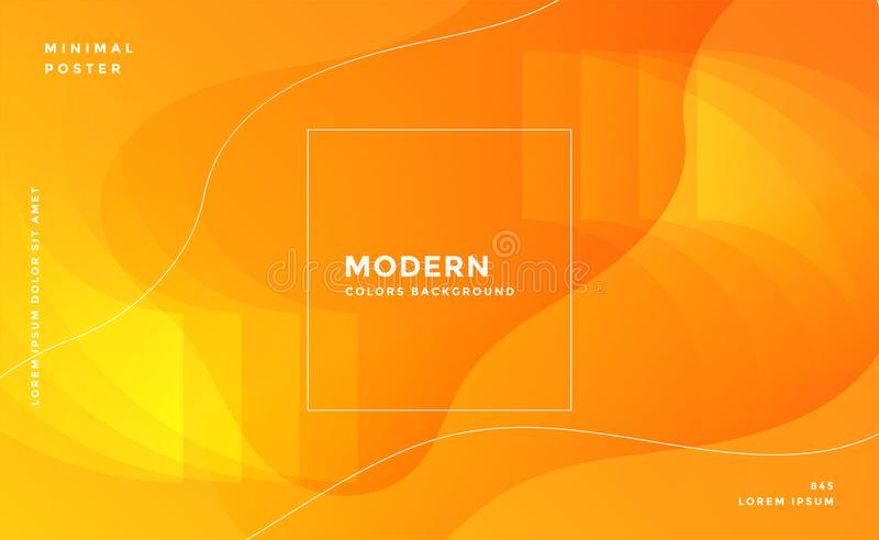 Awesome yellow abstract modern background vector illustration