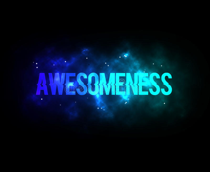awesomeness image stock