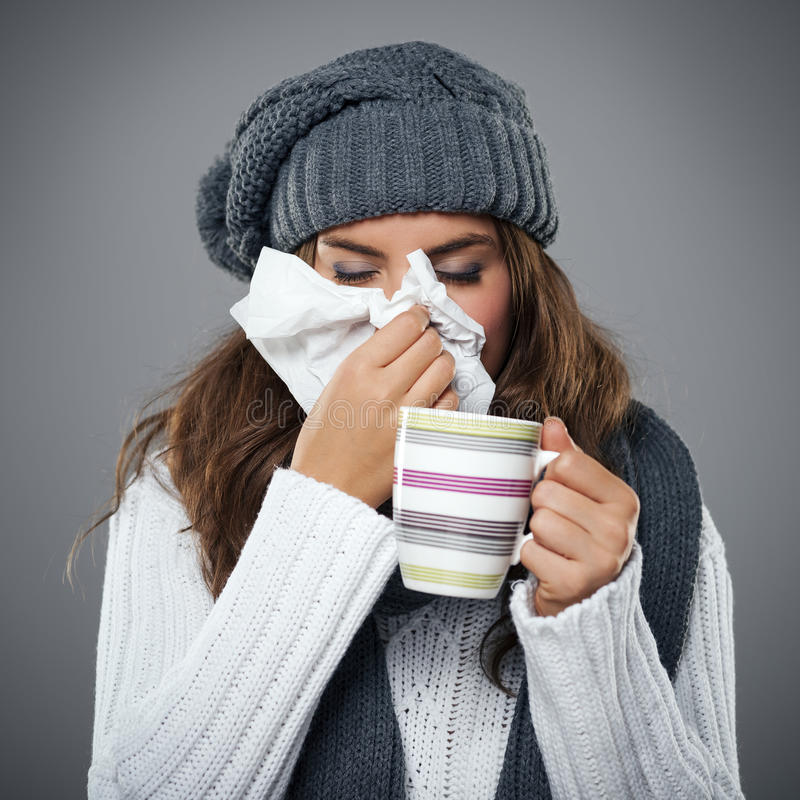 Awful flu stock images