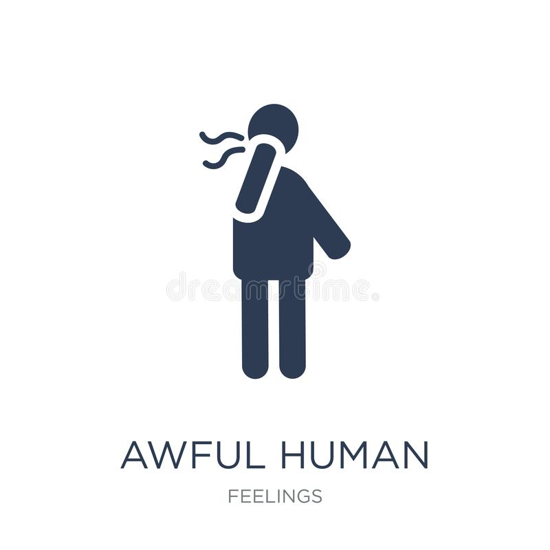 awful human icon. Trendy flat vector awful human icon on white b vector illustration