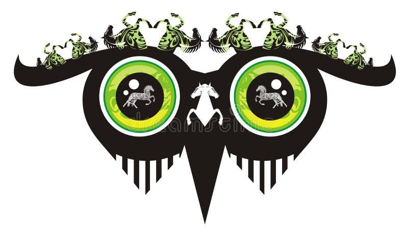 Awful Owl Eyes Stock Photography