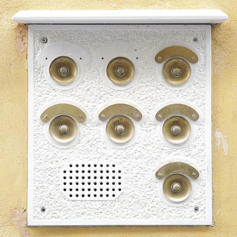 Awiofonu doorbell panel obraz stock