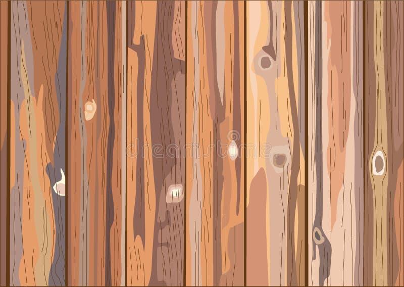 Awood texture background en wood light brown texture spleten tegen achtergrond wand felle verticale plankboard royalty-vrije illustratie