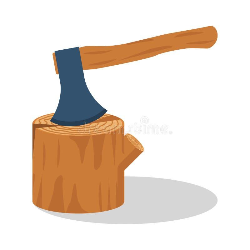 Ax drewno Cioska wtykająca w fiszorku ilustracji