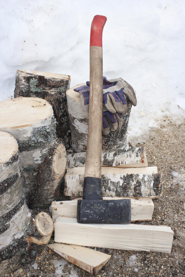 Download Ax and  firewoods stock image. Image of work, tool, effort - 18786939