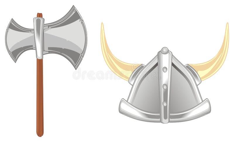 Ax i hełm royalty ilustracja