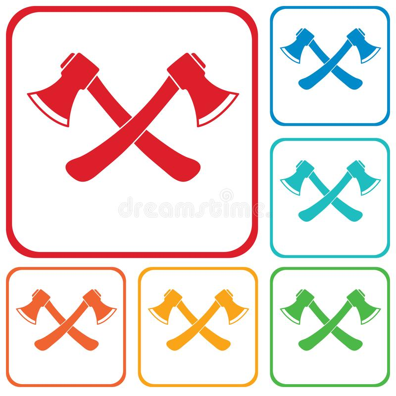 Ax ikona Cioska symbol royalty ilustracja
