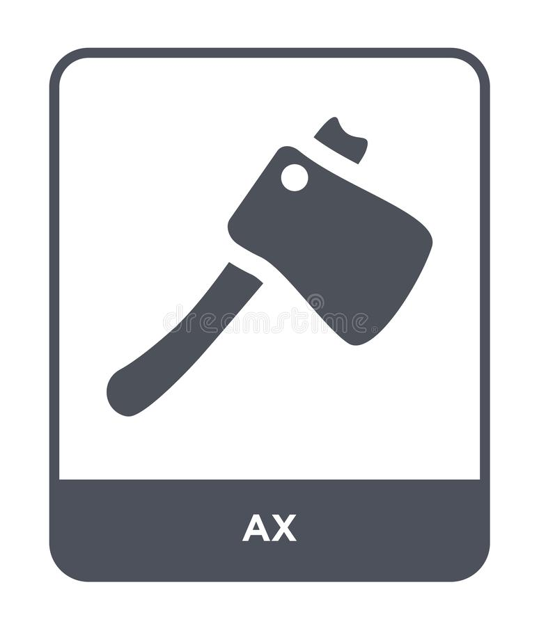 ax ikona w modnym projekta stylu ax ikona odizolowywająca na białym tle ax wektorowej ikony prosty i nowożytny płaski symbol dla  ilustracji