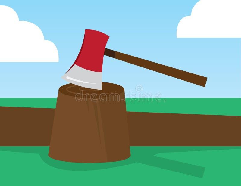 Download Ax In Stump stock vector. Image of sharp, department - 31885803