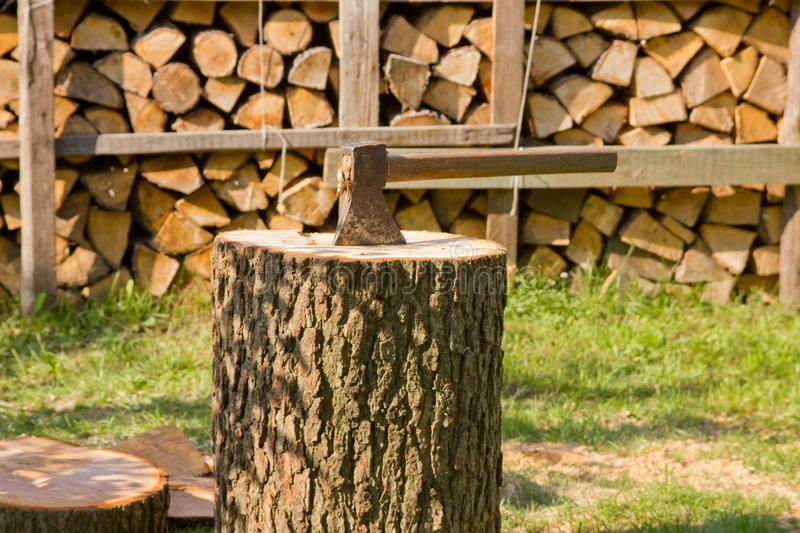 Download Ax On The Trunk Stock Photography - Image: 26228712