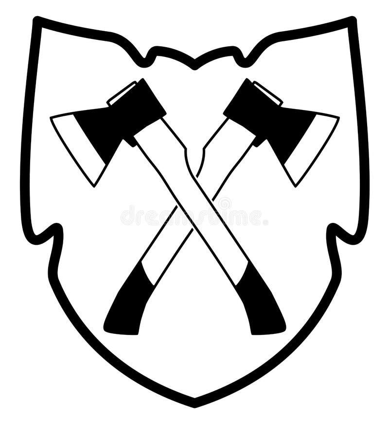 Ax w osłony ikonie ilustracja wektor