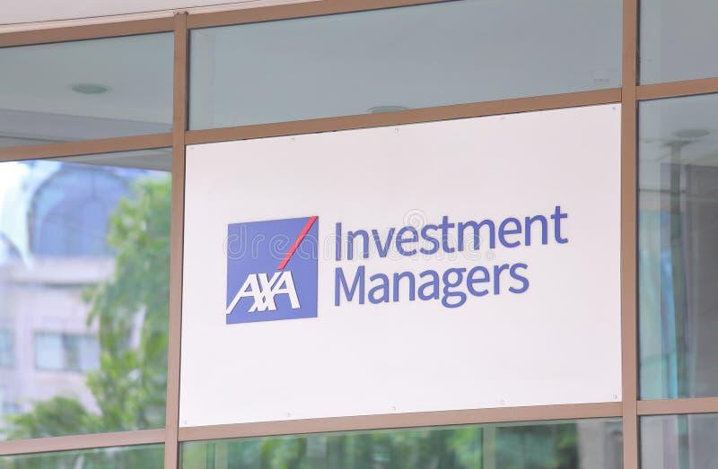 AXA Инвестиционные менеджеры стоковая фотография