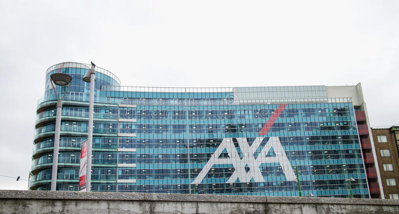 Axa Palace in Milan. MILAN, ITALY - MARCH 30, 2016: Axa Palace in Milan. Futuristic building was build in the Porta Nuova urban redevelopment project in 2014 royalty free stock images