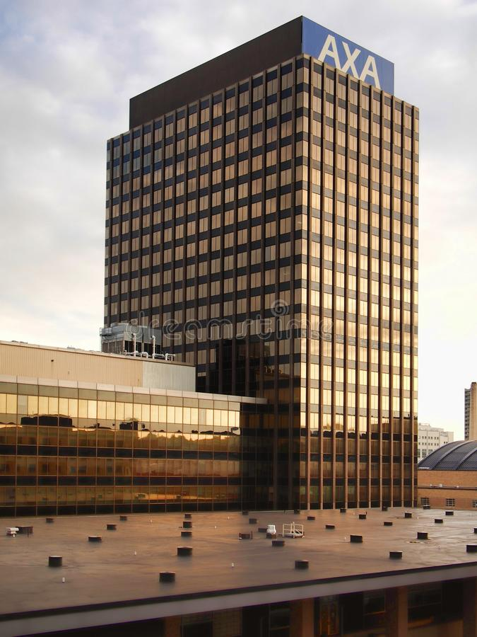 AXA Tower. Syracuse, New York, USA. October 15, 2017. View of one of the AXA Towers , formally The Mony Towers, in downtown Syracuse, New York stock photo