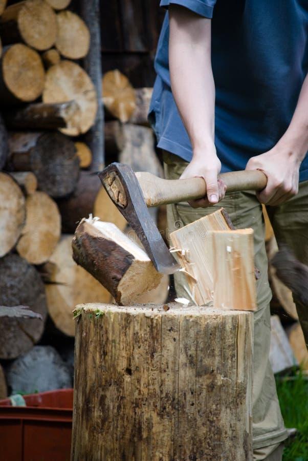 Chopping Wood Stock Image