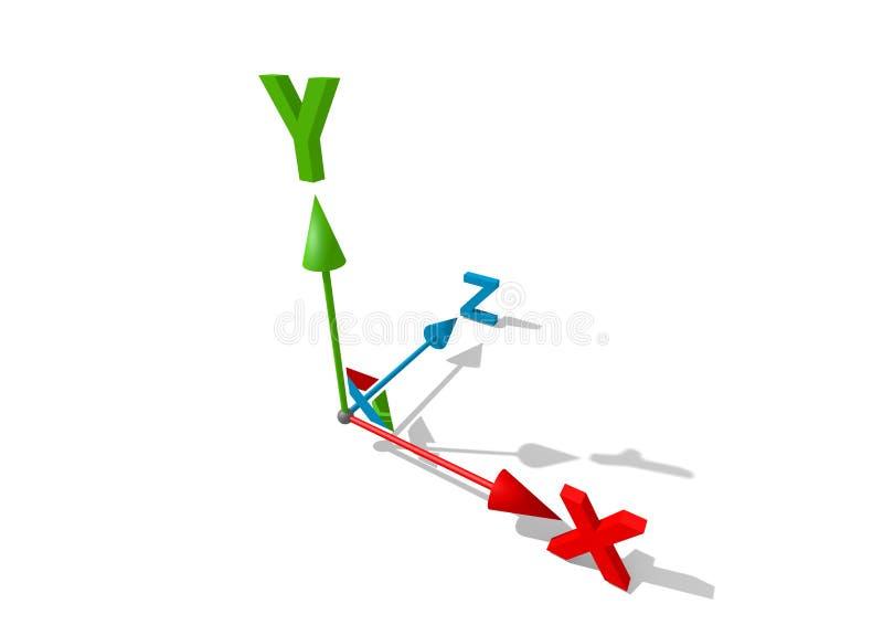axe 3d illustration de vecteur