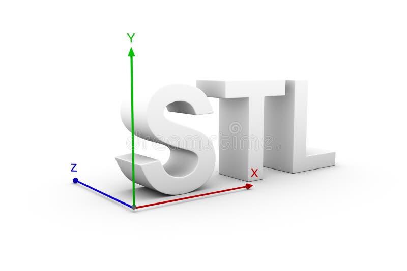 Axe de STL illustration de vecteur