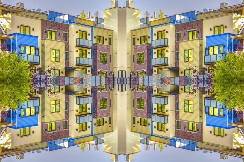 Axe de symétrie avec des appartements de Park City illustration de vecteur