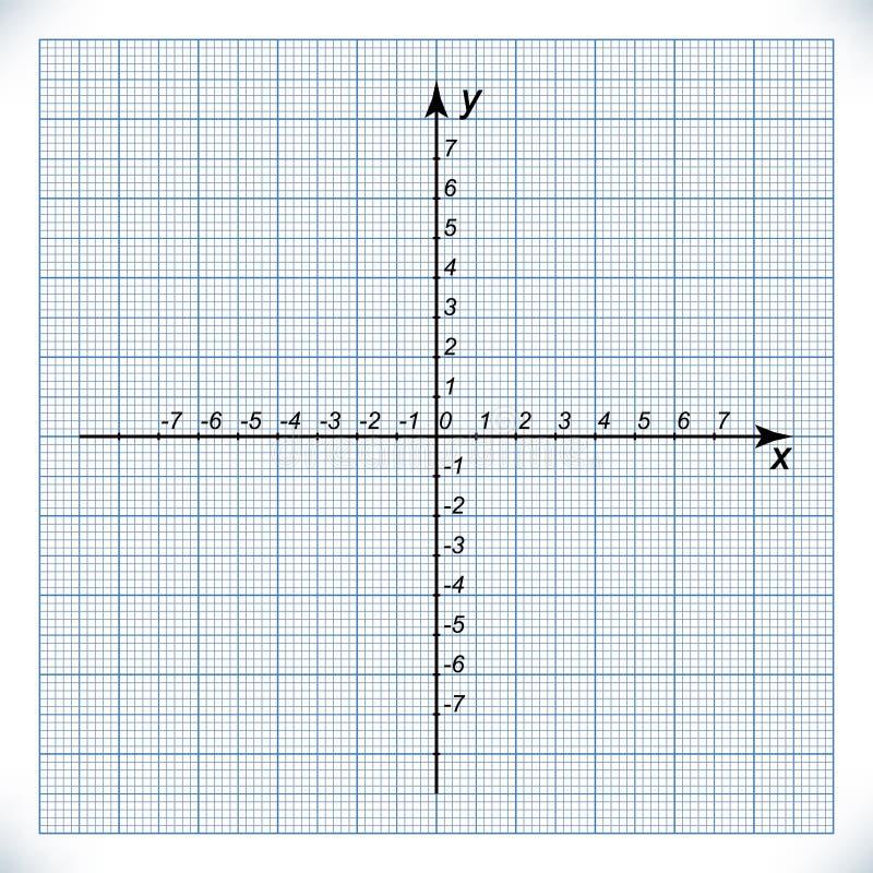Axe du même rang sur le papier de graphique illustration stock