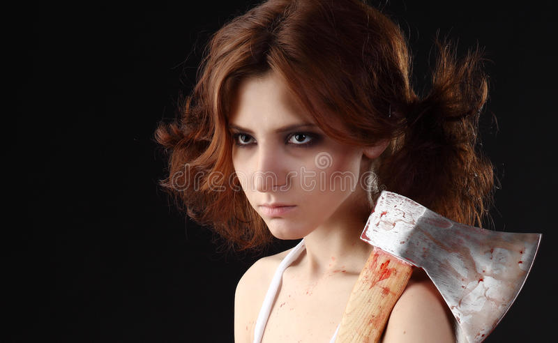 Download Axe girl stock photo. Image of bizarre, anger, furious - 27933240