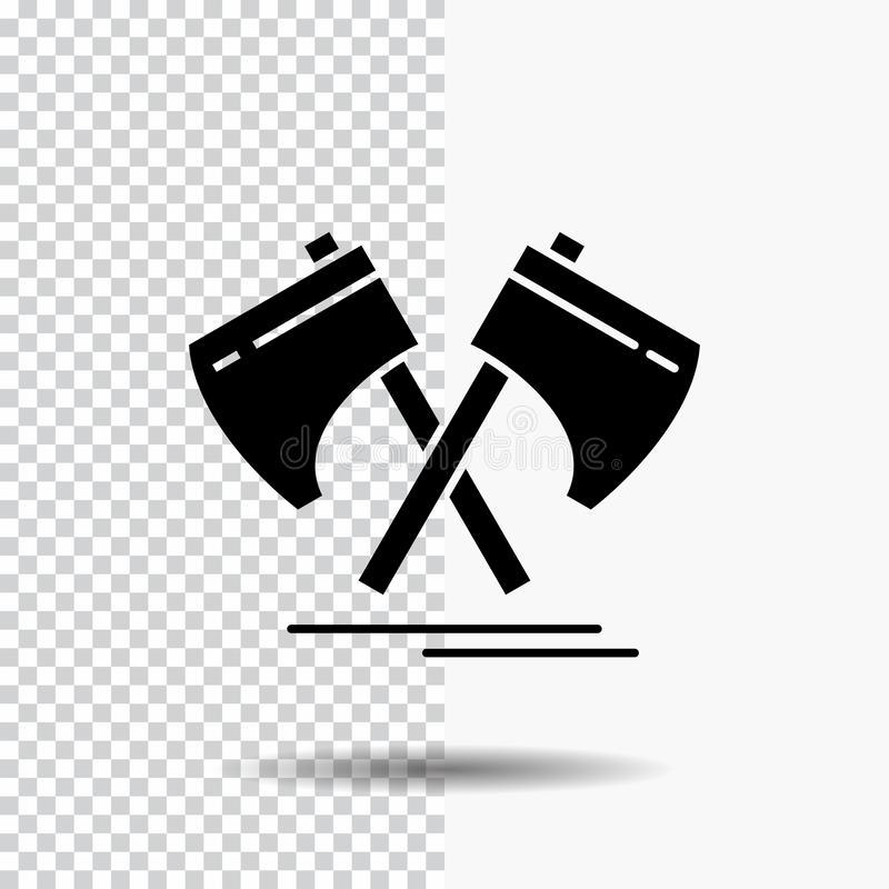 Axe, hatchet, tool, cutter, viking Glyph Icon on Transparent Background. Black Icon. Vector EPS10 Abstract Template background royalty free illustration