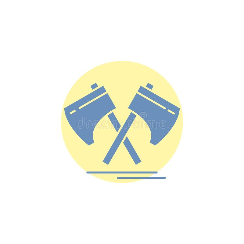 Axe, hatchet, tool, cutter, viking Glyph Icon. Vector EPS10 Abstract Template background royalty free illustration