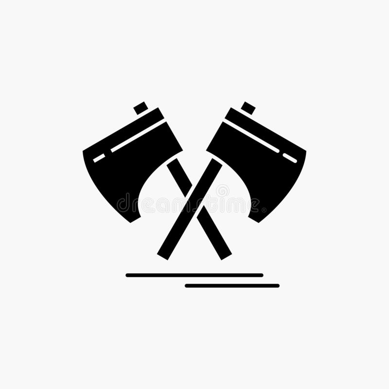 Axe, hatchet, tool, cutter, viking Glyph Icon. Vector isolated illustration. Vector EPS10 Abstract Template background vector illustration