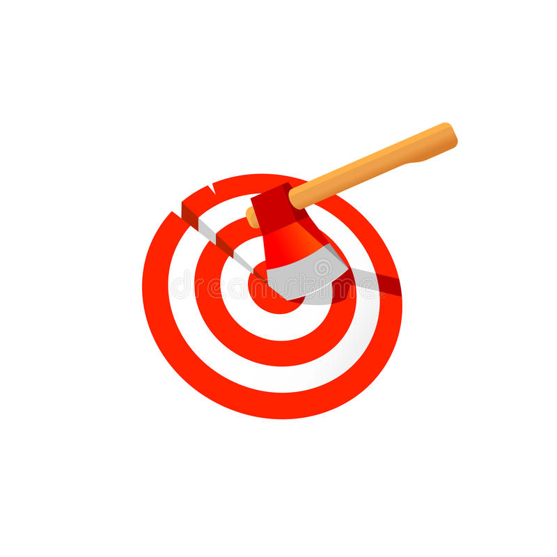 Free Axe Stuck In Target Vector Illustration. Royalty Free Stock Photos - 92360468